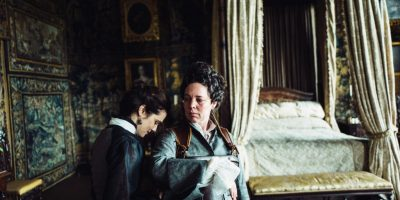 Rachel Weisz and Olivia Colman in the film THE FAVOURITE. Photo by Yorgos Lanthimos. © 2018 Twentieth Century Fox Film Corporation All Rights Reserved