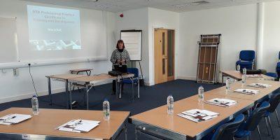 Miriam in Training room