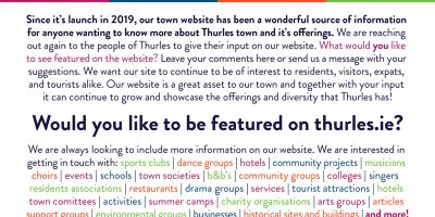 Thurles Website Press Release A4 Colured text